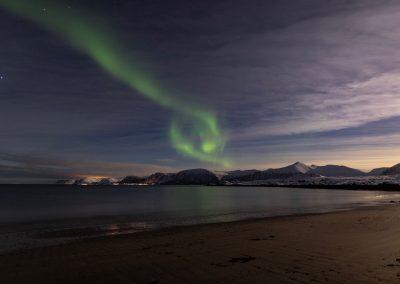 Nordlys over Andøya - Foto: Henrik Rødsand