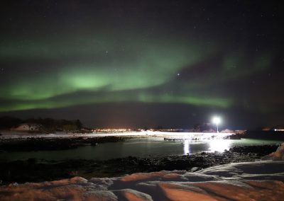 Nordlys over Meløya - Foto: Henrik Rødsand