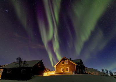 Aurora Borealis at night