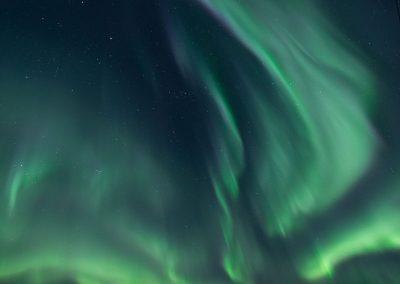 Aurora Borealis at the road to Nyken